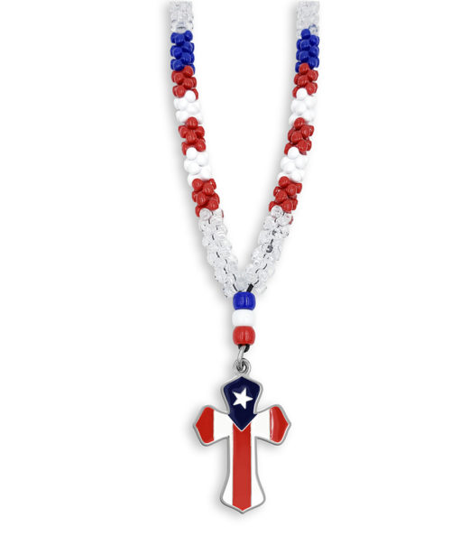 Puerto Rico Cross necklace